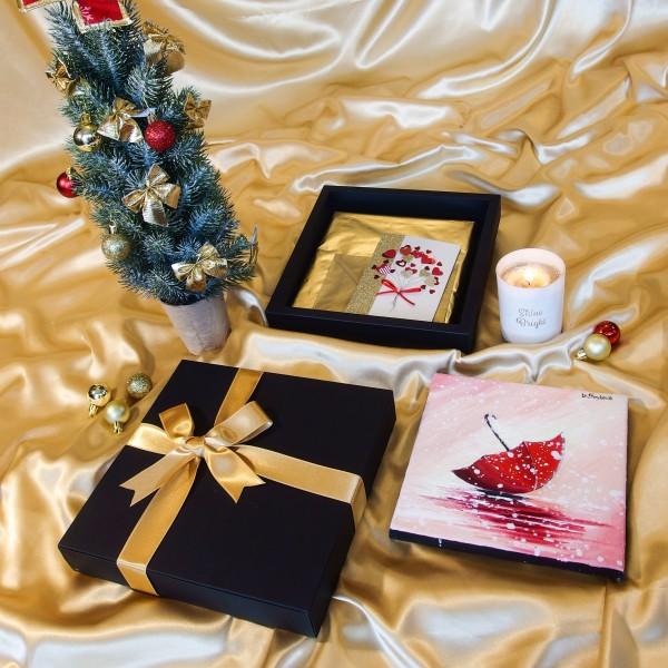 Подарък за Коледа - Червено чадърче